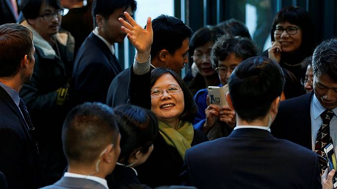 Taiwan leader visits US as Trump again queries 'One China' policy
