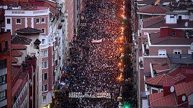 Decenas de miles de personas piden el acercamiento de presos de ETA en Bilbao