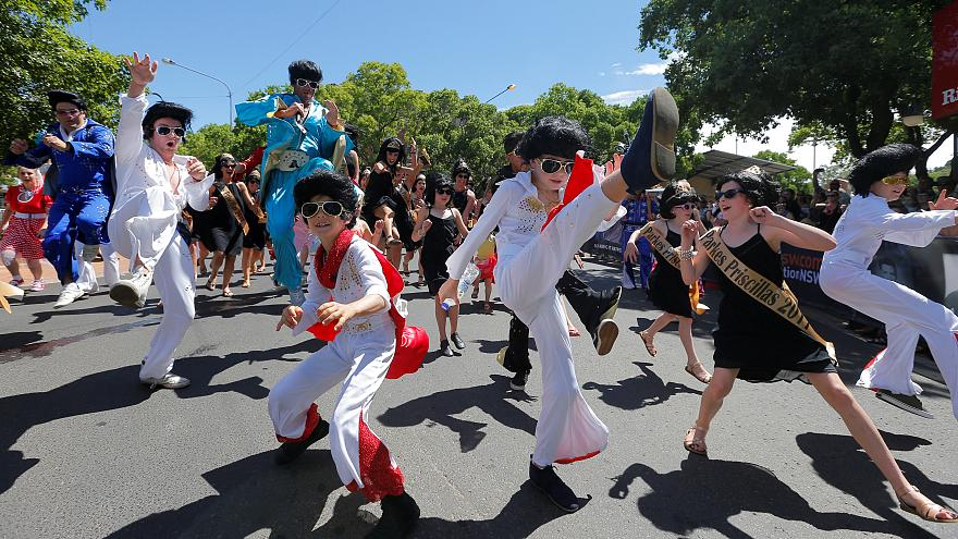 En Australie, une parade pour Elvis Presley
