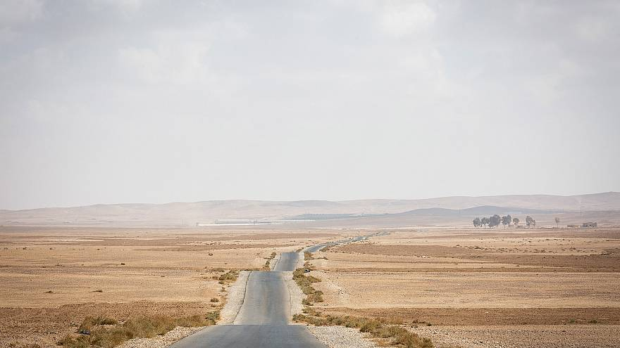 Image: A barren field south of Amman, Jordan's capital. This area is propos
