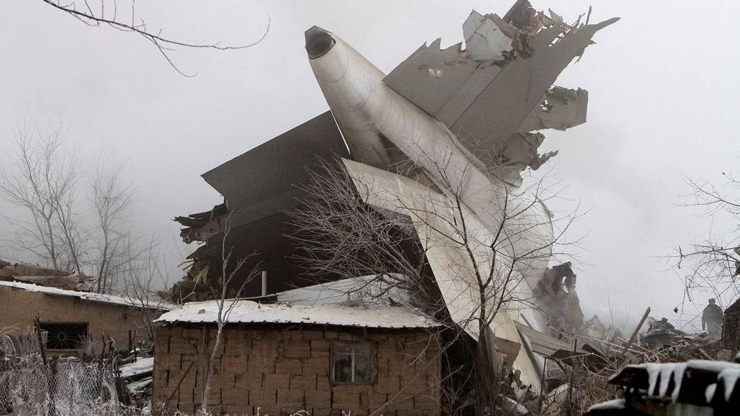 Turkish cargo plane crashes into houses in Kyrgyzstan
