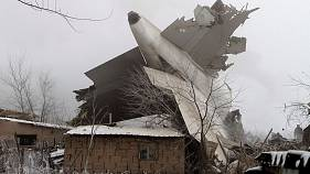 Авиакатастрофа в Киргизии: турецкий самолет упал на жилые дома