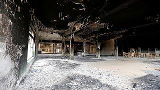 Romokban a moszuli egyetem épülete