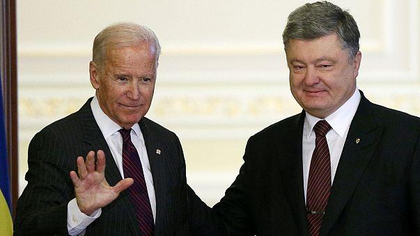 Letzter Besuch in Minsk: Biden sichert Ukraine weiter Unterstützung zu