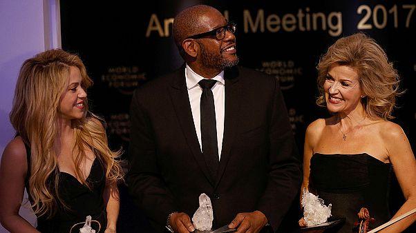 Shakira, Whitaker y Anne-Sophie Mutte, protagonistas en el arranque del foro de Davos