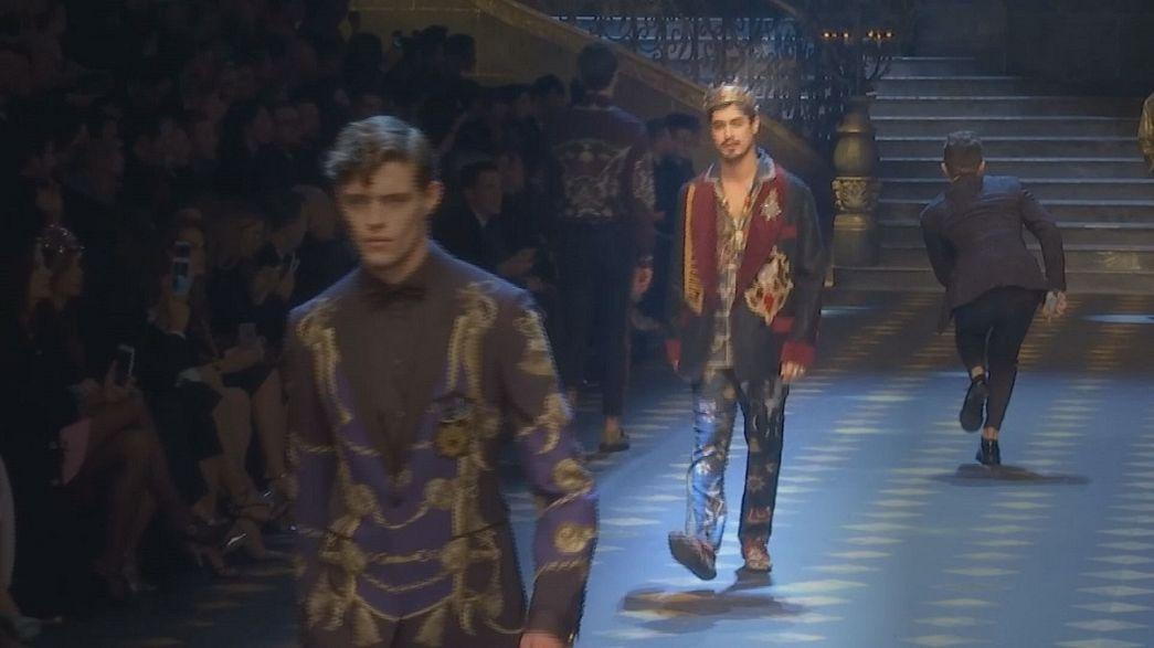 الخطوط العصرية، عنوان رئيسي في أسبوع الموضة الرجالية في ميلانو
