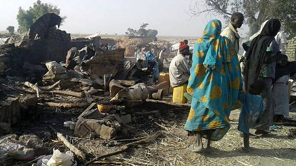 Scores dead as Nigerian warplane mistakenly strikes refugee camp