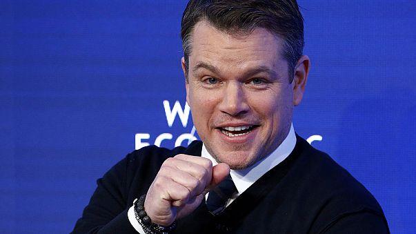 """Fórum de Davos: Matt Damon diz que é preciso """"dar benefício da dúvida"""" a Trump"""