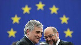 Antonio Tajani presidente del Parlamento europeo al posto del dimissionario Schulz
