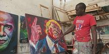 Trump on canvas in Kenya thanks to artist Evans Yegon