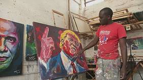 Trump on canvas in Kenya thanks to artist Evans Yegon
