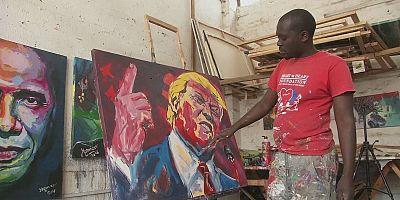 پرتره دونالد ترامپ در آثار نقاش آفریقایی