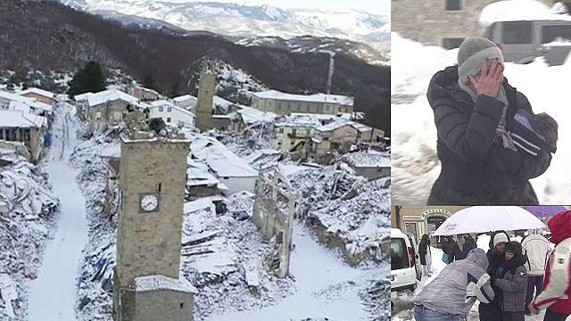 Földrengés, hó, elzárt falvak Közép-Itáliában
