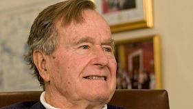Ex-US President George Bush senior in intensive care