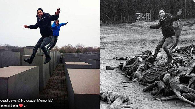 """""""Yolocaust"""", una cruda sátira sobre los turistas y sus selfis en el monumento del Holocausto"""