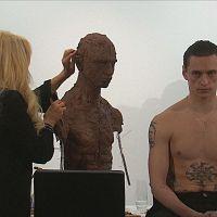 Dancer Sergei Polunin sits for sculptor Frances Segelman