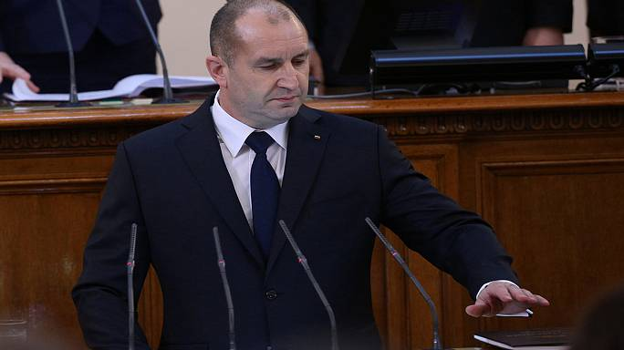 Political newcomer Rumen Radev sworn in as Bulgaria's president