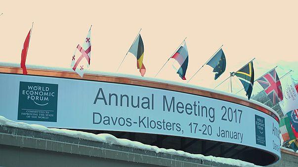 Donald Trump, muy presente en Davos