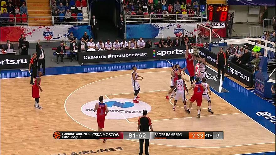 EuroLeague: Holders CSKA dominate Brose Bamberg for 14th win of the season