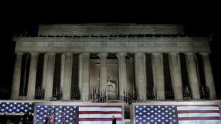 """Investiture à Washington : Donald Trump parle d'un """"beau jour"""""""