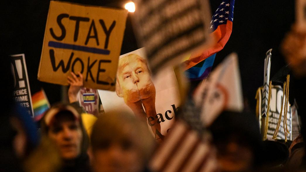 Protestos contra Trump em Washington e Nova Iorque