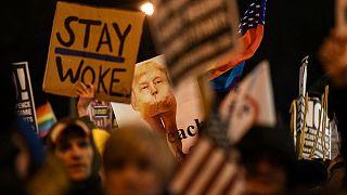 Protestos contra Trump em Washington e Nova Iorque