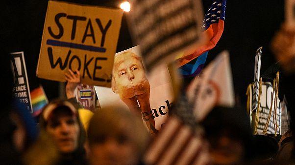 EEUU: miles de personas protestan contra Trump horas antes de la toma de posesión