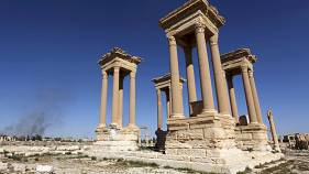 Extremists destroy Palmyra's celebrated Tetraplyon