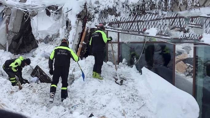 Six people found alive in Italian hotel destroyed by avalanche