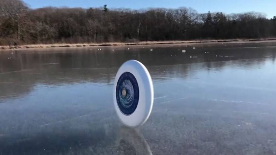 A new way to use a frisbee?