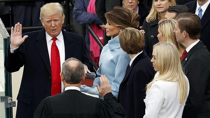 """Donald Trump: """"O poder ao povo"""" e """"América Primeiro"""" no primeiro discurso presidencial"""