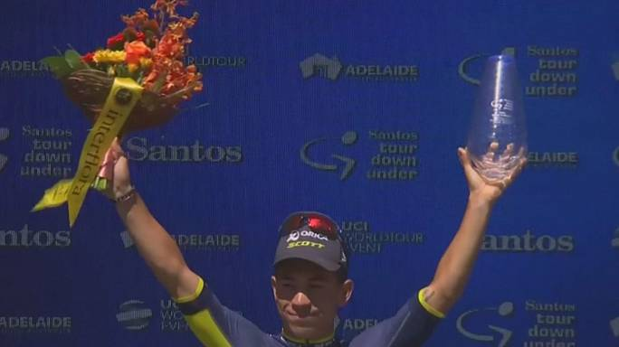 Tour Down Under: Ewan celebrates third win in four stages