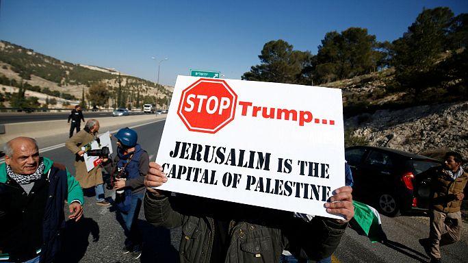 Palesztin tüntetés Donald Trump ellen