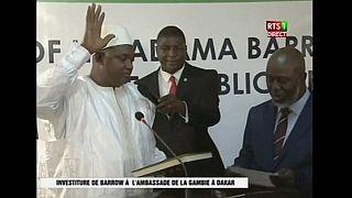 Le président gambien Adama Barrow prête serment à Dakar [no comment]