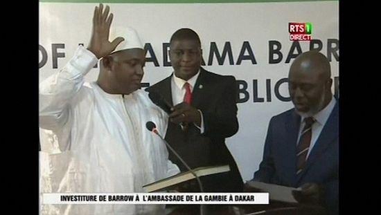 Adama Barrow sworn in as Gambian President in Dakar [no comment]