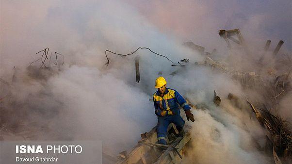 پوشش زنده چهارمین روزعملیات امداد ساختمان پلاسکو
