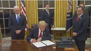 Trump: premier jour à la maison blanche
