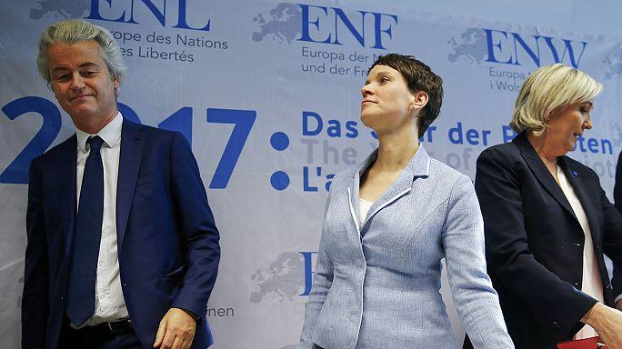 Convegno delle destre nazionaliste a Coblenza in Germania