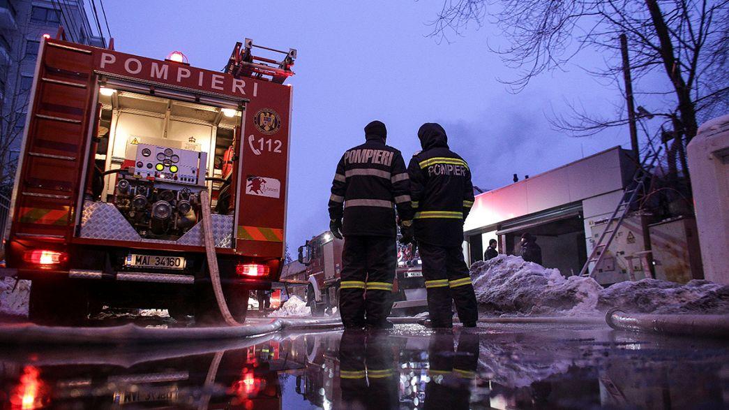 Roménia: Novo incendio devasta uma discoteca em Bucareste