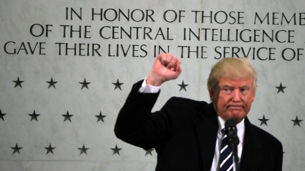 """Trump diz """"adorar e respeitar a CIA"""""""