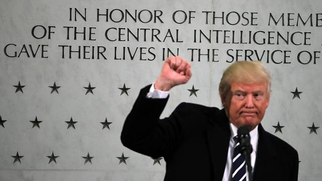 'I am with you 1,000 percent' - Trump to CIA