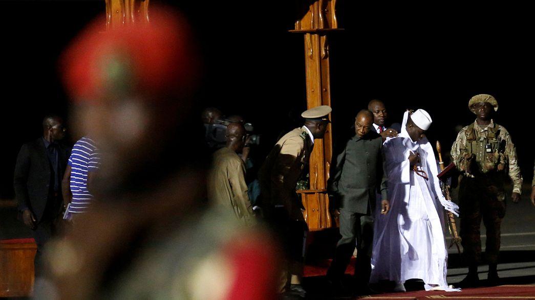 Gambie : l'ex-président Jammeh est désormais en exil