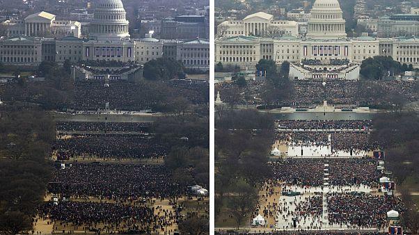 جدل جديد في الولايات المتحدة بشأن حجم الحشود التي شاركت في حفل تنصيب ترامب