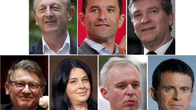 Primaire de la gauche française : Hamon en tête, talonné par Valls
