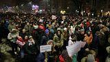 A román elnök is ott volt a kormányellenes tüntetésen Bukarestben