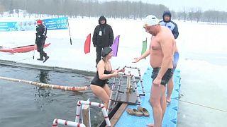 السباحة في الجليد في بيلوروس