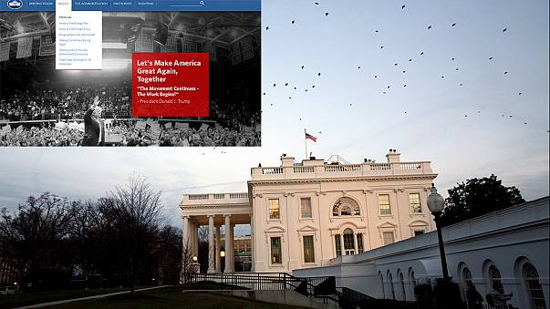 EUA: O mundo de Trump sem gays nem CO2 no novo site da Casa Branca