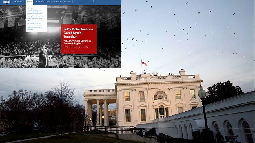 Donald Trump fait le grand ménage sur le site internet de la Maison-Blanche