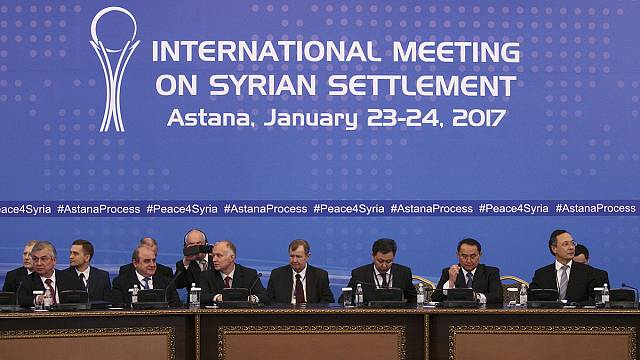 Frosty exchanges as Syria talks begin in Astana