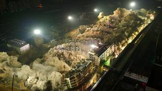19 buildings demolished in 10 seconds- China
